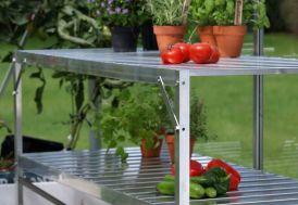 Table 2 plateaux Aluminium anodisé