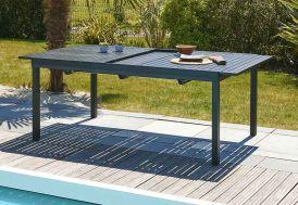 Table en Aluminium avec Rallonge Automatique Anthracite 180/240 Miami
