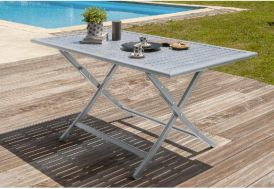 Table de Jardin Pliante Orlando en Aluminium 140x80cm