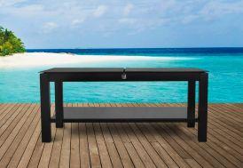 Table Basse de Jardin Papillon Aluminium Noir Elytre 120x70cm