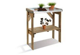 table de jardinage  en bois traité FSC préparation bouture rempotage