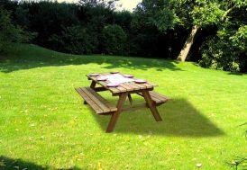 Table Forestière de Pique-Nique en Bois Traité Autoclave (Lot de 15)
