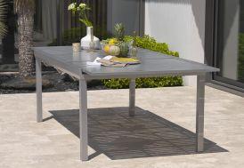 table de jardin en aluminium avec rallonge 180/240 cm