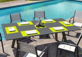 Table de Jardin 220 cm Aluminium Anthracite Modigliani