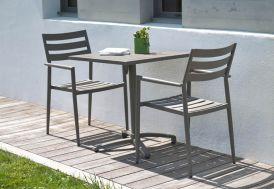 Table de Jardin Pliante en Aluminium 70x70 Gabin