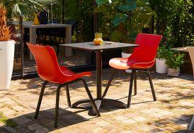 Table de Jardin Pliable en Aluminium et HPL Hartman Sophie Bistro 68 x 68 cm