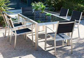 Table Jardin Aluminium Verre Trempé Pacific (220x100)
