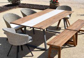 Table de Jardin en Bois d'Acacia et Métal Givex Greshana 200 x 100 cm