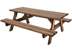table de pique-nique en bois traité autoclave 6 personnes