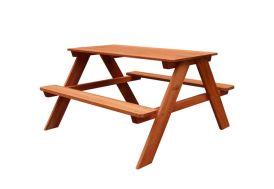 Petite Table de Pique-Nique pour Enfant en Bois de Hemlock Sunny Dave 89 x 89 cm
