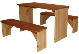 Table de Pique-Nique avec Bancs (70x80x45cm)