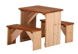 Table de Pique-Nique avec Bancs (45x80x45cm)