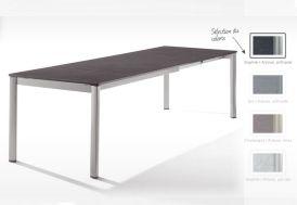 Table Extensible Puroplan Gris Graphite (165/225/285x95cm)