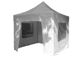 Tente Réception Pliante 3x3 Alu 45mm Toile 300gr/m² + 4 Murs