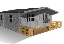 Terrasse 9 m² Abri de Jardin Bois Lipki
