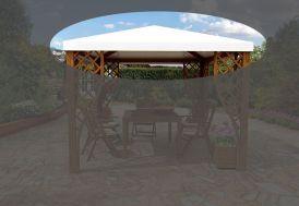 Toile en PVC pour Tonnelle 299 x 299 cm Alce Living