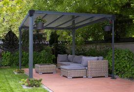 Tonnelle Milano en Aluminium Toit Plat 309x309cm