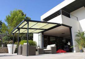 Tonnelle Azura Aluminium à Toile Renforcée 3,5 x 4 m