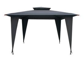 Tonnelle Carrée avec Aération Noire 3,5x3,5m