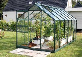 Serre de Jardin en Verre VENUS 7500 Laqué Vert